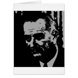 Carte Silhouette de Lyndon B. Johnson