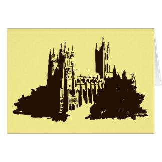 Carte Silhouette dessinant la cathédrale de Cantorbéry