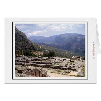 Carte Site archéologique de Delphes