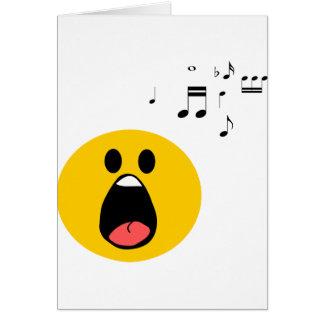 Carte Smiley de chant