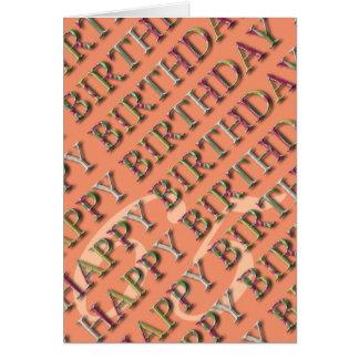 Carte soixante-cinquième Salutation d'anniversaire avec