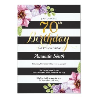 Carte soixante-dixième Femmes d'invitation