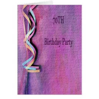 Carte soixante-dixième fête d'anniversaire