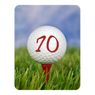Carte soixante-dixième Thème de golf de fête