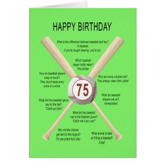 Carte soixante-quinzième plaisanteries de base-ball