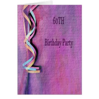 Carte soixantième fête d'anniversaire