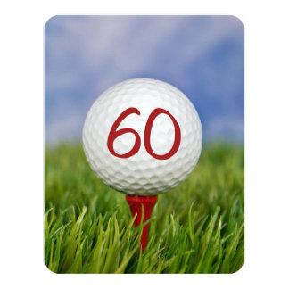 Carte soixantième Thème de golf de fête d'anniversaire