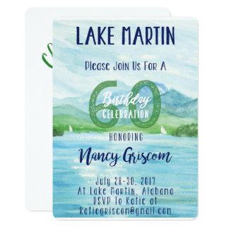 Carte soixantième Week-end de lac birthday