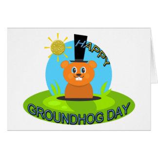 Carte Soleil heureux de jour de Groundhog