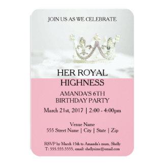 Carte Son altesse royale