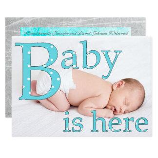 Carte Son un garçon, bébé est ici, des annonces de