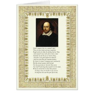 Carte Sonnet de Shakespeare # 18