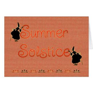 Carte Sorcières de païen de solstice d'été