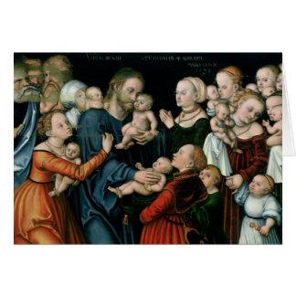 Carte Souffrez les petits enfants pour venir à moi, 1538