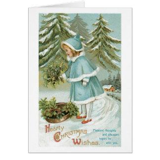 Carte Souhaits chaleureux de Noël
