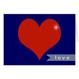 Carte souhaits d'amour