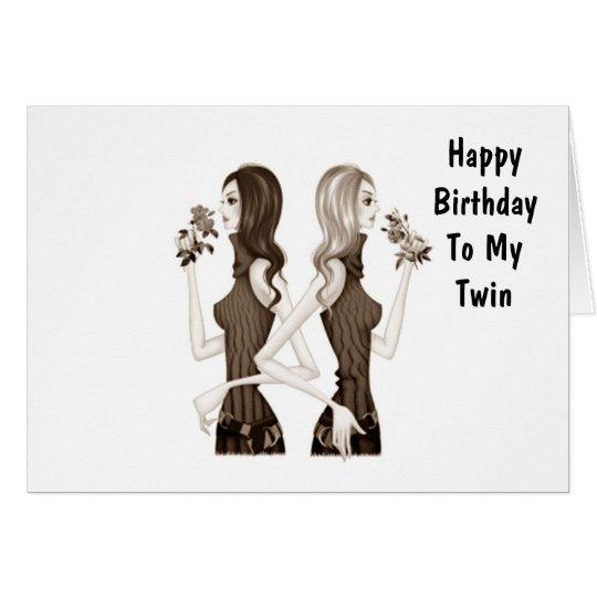 anniversaire de ma soeur jumelle