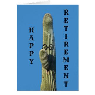Carte Souhaits drôles de retraite de cactus
