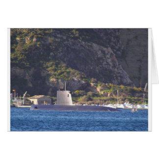 Carte Sous-marin mettant à la mer