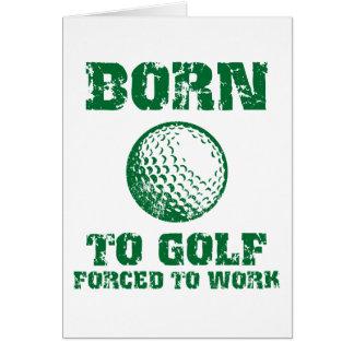 Carte Soutenu pour jouer au golf