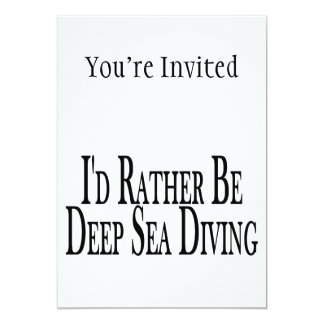 Carte Soyez plutôt plongée de mer profonde