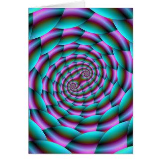 Carte Spirale de peau de serpent dans la turquoise et la