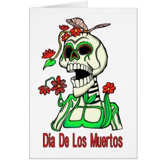 Carte Squelette de Dia De Los Muertos Laughing