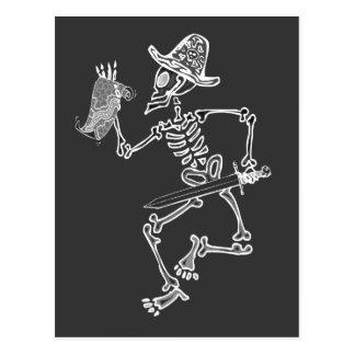 Carte squelettique t de pirate