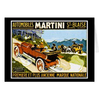 Carte St Blaise d'automobiles de Martini