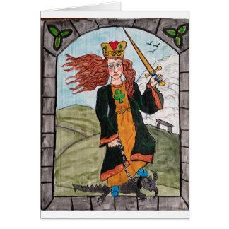 Carte St Dymphna du Retablo créé par KK Hannegan