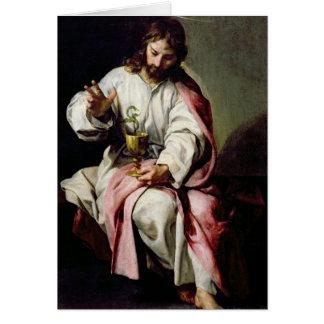 Carte St John l'évangéliste et la tasse empoisonnée