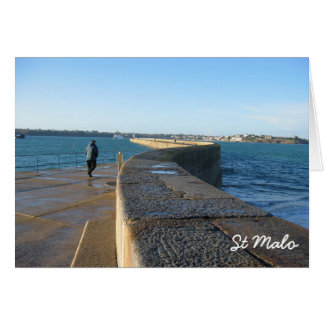 Carte St Malo, France