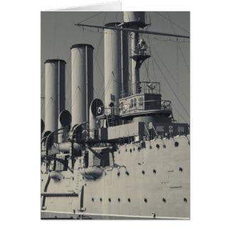 Carte St Petersbourg, l'aurore 2 de croiseur