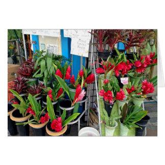 Carte Stalle de fleur de Honolulu