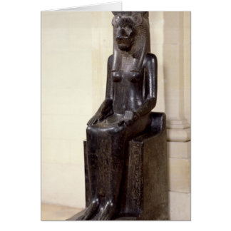 Carte Statue de la déesse lion-dirigée Sekhmet