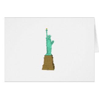 Carte Statue de la liberté : modèle 3D :