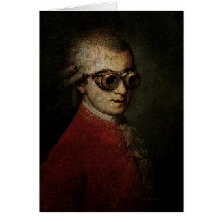 Carte Steampunk drôle fait sur commande Mozart