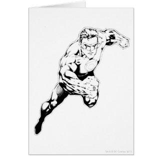 Carte Style comique - saut rapide, noir et blanc