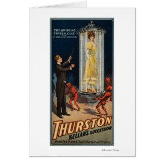 Carte Successeur de Thurston Kellar - femme dans l'eau