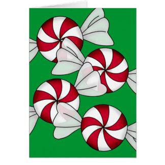 Carte Sucreries de menthe poivrée