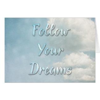Carte Suivez vos rêves