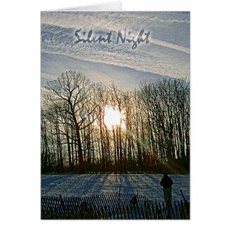 Carte Sun, neige et ombres 3 par Susan M. Edgerton