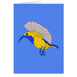 Carte Sunbird soutenu par olive