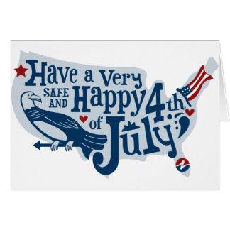 Carte Sûr et heureux 4 juillet