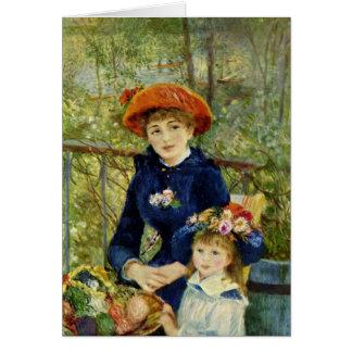 Carte Sur la terrasse, Pierre-Auguste Renoir 1881