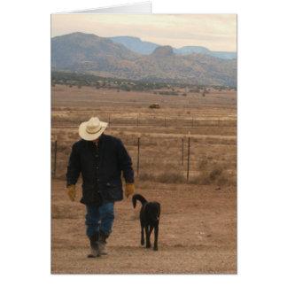 Carte Sur mon appui d'esprit - amoureux des chiens