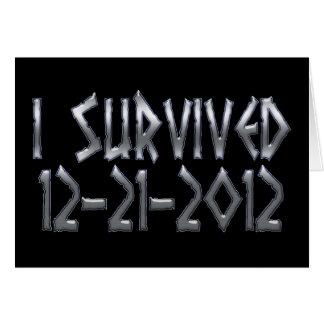 Carte Survécu 2012