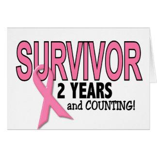 Carte SURVIVANT de CANCER DU SEIN 2 ans et comptes