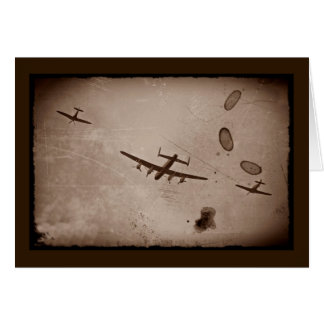 Carte Survol d'Avro Lancaster