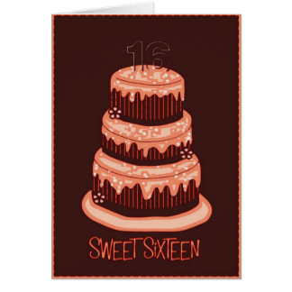 Carte Sweet sixteen
